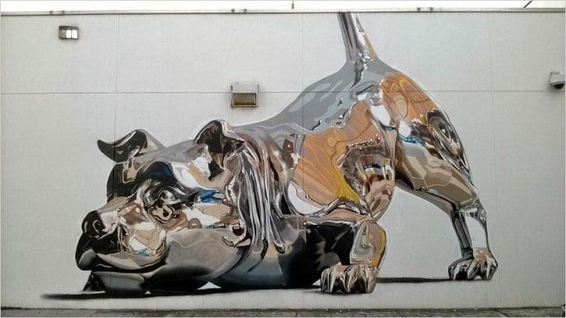 Этот мурал был нарисован в 2014 году, в Майами. Его создал американский художник Bik Ismo.