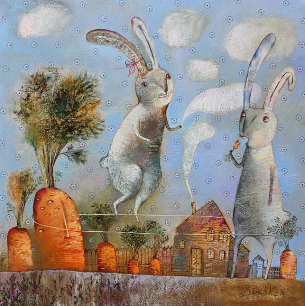 На фото картина известной современной белорусской художницы Силивончик Анны.