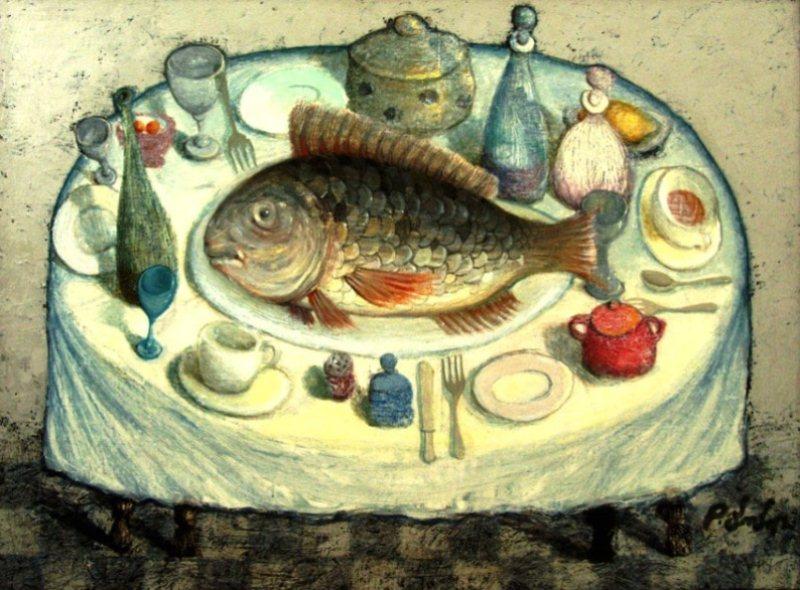 Картина известного современного грузинского художника Давида Попиашвили.