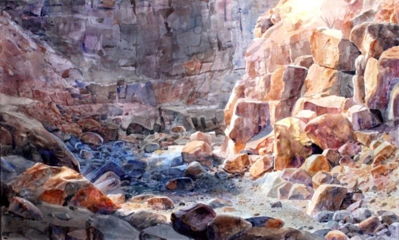 Картину нарисовал знаменитый современный художник ОАЭ Абдул Кадер Аль-Раис.