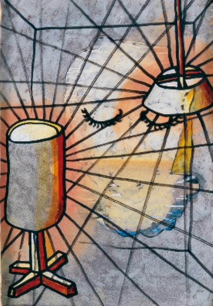 Картину нарисовал известный современный швейцарский художник Урс Фишер.