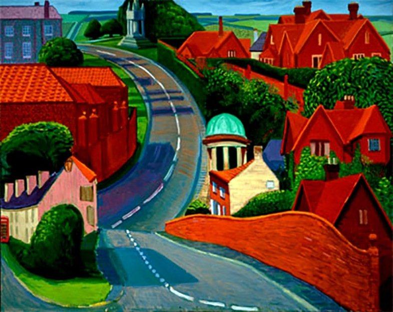 Картина известного современного британского художника Дэвида Хокни.