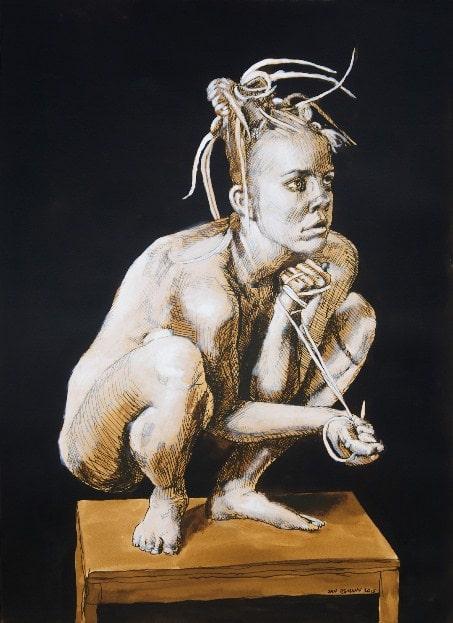 На фото картина известного современного художника Дании, Яна Эсманна.