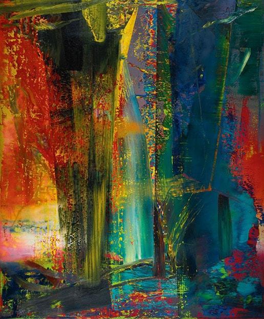 Картина абстракция современного знаменитого германского художника Герхарда Рихтера.
