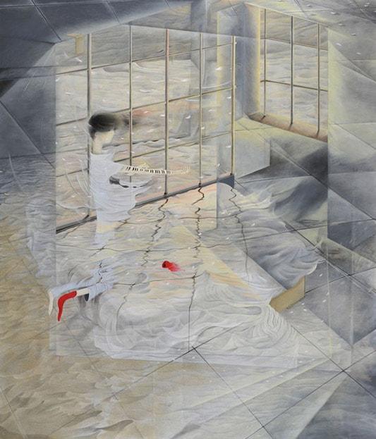 На фото картина известной современной японской художницы Томоко Кашики.