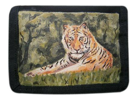 Живопись картинки. Кошелек с авторской картинкой Тигр. Живопись акрилом. Закажи кошелек с художественной росписью.