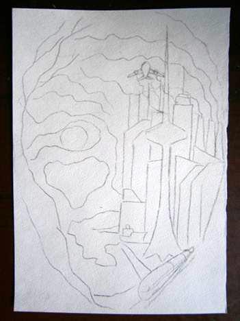 Фото картинки. Легкий прикольный рисунок, рисованный простым карандашом на бумаге, для перенесения его, потом, на футболку.