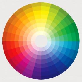 Картинка. Цветовой круг. Статья. Неизбирательное и избирательное поглощение света.