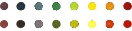 Картинка. Изменение цветов в зависимости от освещения. При дневном свете (сверху) и искусственном (внизу).