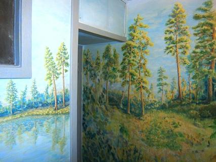 Фото. Художественная роспись стен своими руками. Или как разрисовать стену Мастер-класс от Творческой мастерской «Огонь»
