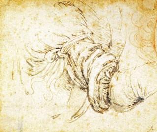 Эскиз к руке архангела Гавриила. Леонардо да Винчи.