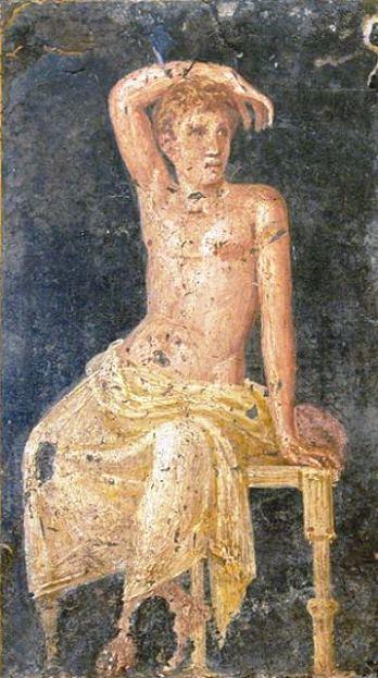 Римская фреска виллы Ариадны, древнеиталийского города Стабии, 1 -го века нашей эры.