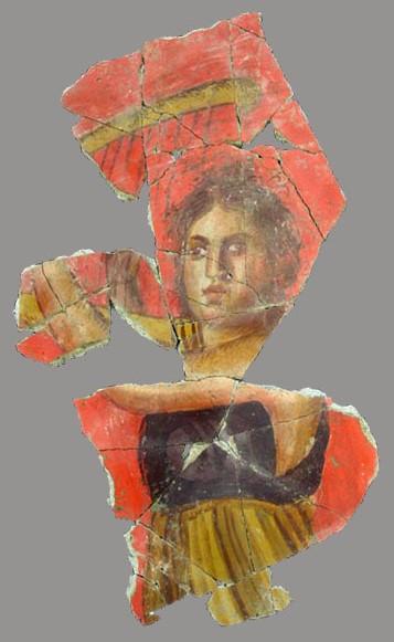 Фреска древнеримской виллы возле города Арль, во Франции. Примерно 70 - 20 г.г. 1-го века до нашей эры.