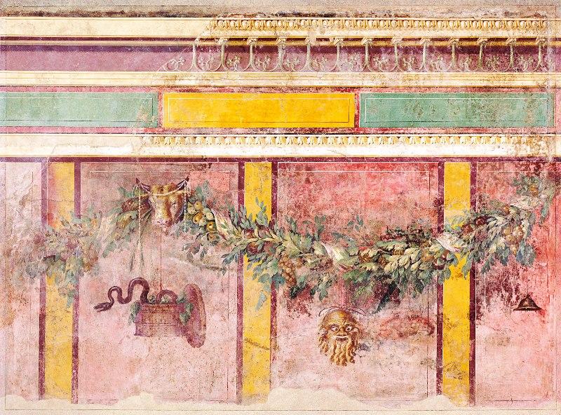 Фреска древнеримской виллы в Боскореале (Италия, 2 км. от Помпей), построенной в 50 - 40 годах до нашей эры.