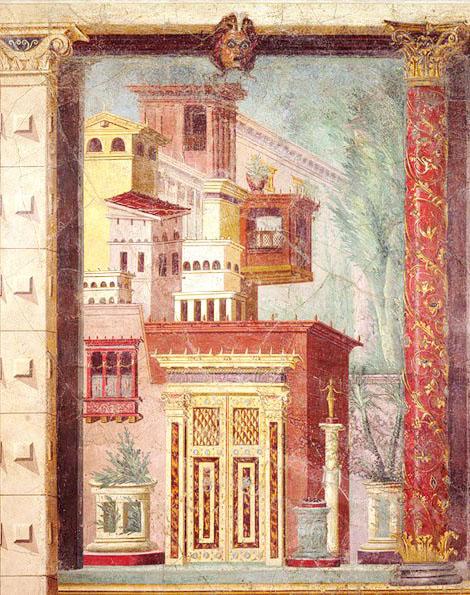 Фреска виллы Боскореале. Ее раскопки были произведены в 1893 — 1894 годах.