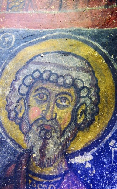 Фреска изображает Иисуса, находится в Турции, в Невшехире, в подземном городе, в древней церкви.