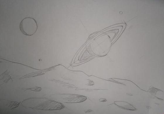 Как красиво нарисовать космос гуашью. Поэтапно. Для начинающих.