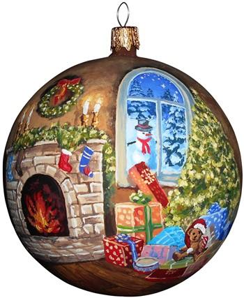 Рождественский вечер новогодний шар ручной работы.