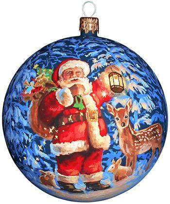 Дед Мороз / Санта Клаус новогодний шар ручной работы.