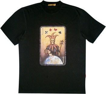 Черная неформальная футболка купить Киев, Украина.