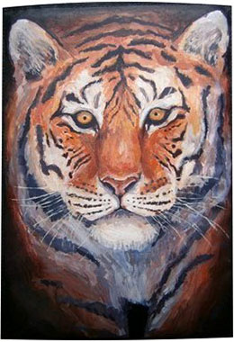 Тигр чехол для электронной книги.