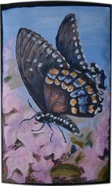 Бабочка чехол для телефона ручной работы.