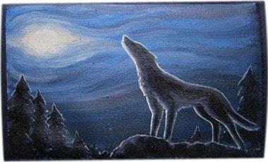 Волк чехол для телефона ручной работы.