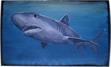 Акула чехол для телефона ручной работы.