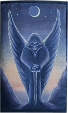 Ангел смерти чехол для телефона ручной работы.
