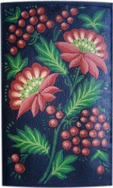 Петриковская роспись чехол для телефона ручной работы.