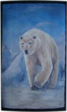 Белый медведь чехол для телефона ручной работы.