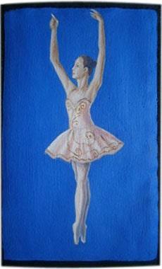 Балерина чехол для телефона ручной работы.