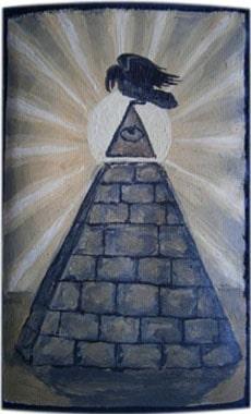 Пирамида чехол для телефона ручной работы.