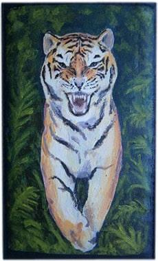 Тигр чехол для телефона ручной работы.