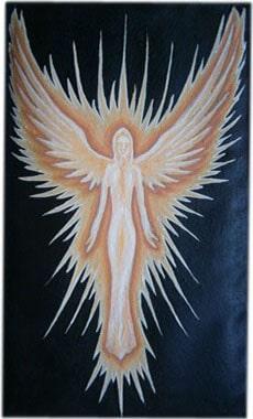 Ангел чехол для телефона ручной работы.
