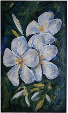 Белые цветы чехол для телефона ручной работы.