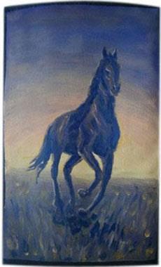 Лошадь чехол для телефона ручной работы.