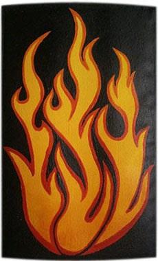 Огонь чехол для телефона ручной работы.