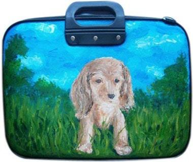 Собачка сумка для ноутбука 15,6 дюйма, с рисунком.