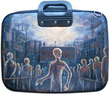 Зомби сумка для ноутбука 15,6 дюйма, с рисунком.