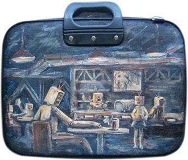 Роботы сумка для ноутбука 15,6 дюйма, с рисунком.