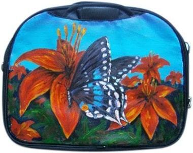Бабочка сумка для ноутбука, с рисунком.