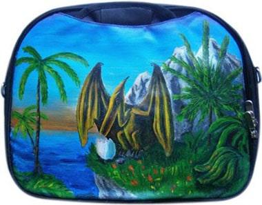 Птеродактиль сумка для ноутбука, с рисунком.