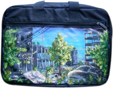 Постапокалипсис сумка для ноутбука 15,6 дюйма, с рисунком.