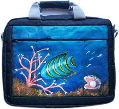 Рыбка сумка для ноутбука, с рисунком.