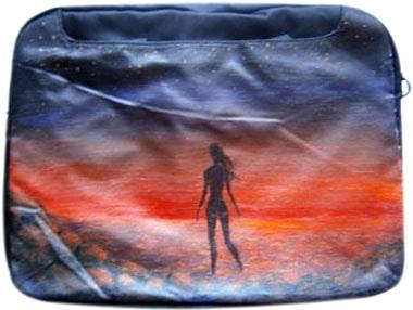 Девушка на море сумка для ноутбука, с рисунком.
