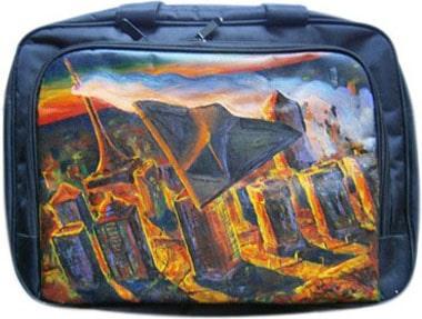 Беспилотник сумка для ноутбука, с рисунком.