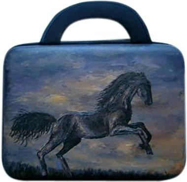 Сумка для ноутбука тканевая. Предлагаем купить сумку с росписью на заказ, для планшета 9,7 дюймов.