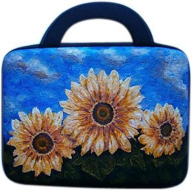 Подсолнухи сумка для мини ноутбука, планшета, с рисунком.