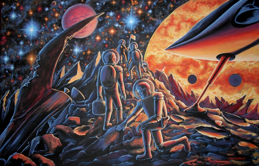 «Картина про космос и космические корабли».